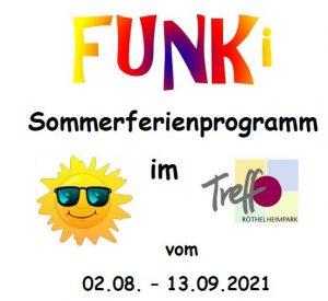 Funki Sommerferienprogramm im Treffpunkt Röthelheimpark vom 02.08. bis 13.09.2021
